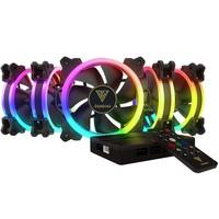 Kit Cooler Fan Gamdias Dual Ring com 5 Unidades, RGB, 12cm - AEOLUS M1-1205R