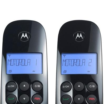 6c9acd4ce ... Telefone Sem Fio Motorola Combo Duo, Identificador de chamadas + 1 Ramal,  DECT 6.0 ...