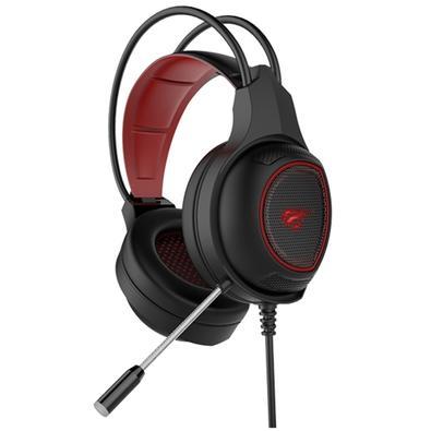 Headset Gamer Havit LED Vermelho, Som Surround, Driver 40mm - HV-H2239D
