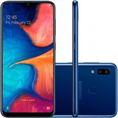 Smartphone Samsung Galaxy A20, 32GB, 13MP, Tela 6.4´, Azul - SM-A205G/32DL