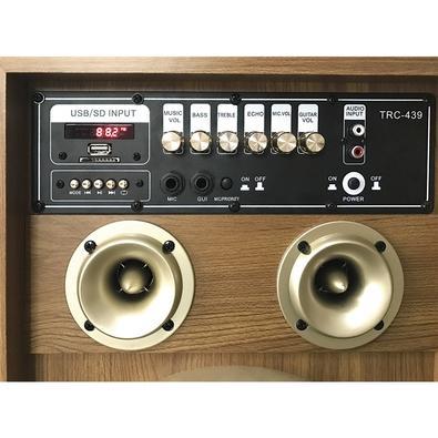 Caixa de Som Amplificadora TRC 439, Bluetooth, USB, LED, Speaker 10´, 300W
