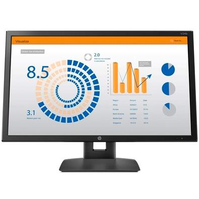 Monitor HP V24B LED 23.6´ Widescreen, Full HD, IPS, VGA/Display Port, Altura Ajustável - 2XM34AA