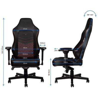 Cadeira Gamer Noblechairs Hero, Couro, Black Red - NBL-HRO-RL-BRD
