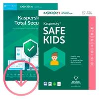 Kaspersky Antivírus Total Security 2019 Multidispositivos 10 PCs + Kaspersky Safe Kids - Digital para Download