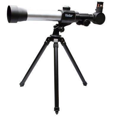 Kit Combinado Vivitar Telescópio de Refração 20X/30X/40X + Microscópio com Ampliação 300X/450X/600X - VIVTELMIC20