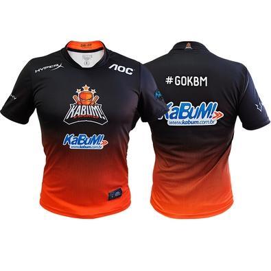 Camiseta Uniforme Oficial KaBuM! e-Sports 2019, Orange Ninja, Dry-Fit, Tamanho XG