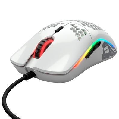 Mouse Gamer Glorious Model O, RGB, 6 Botões, 12000DPI, Branco Glossy - GO-GWHITE