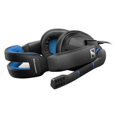Headset Gamer Sennheiser GSP 300, P2, Preto e Azul - 507079