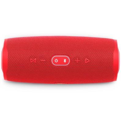 Caixa de Som Portátil JBL Charge 4, Bluetooth, 20W, À Prova D´Água, Vermelho - JBLCHARGE4RED
