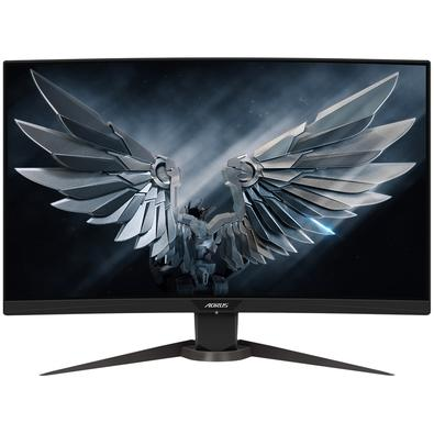 Monitor Gamer Gigabyte Aorus LED 27´ Widescreen, Curvo, Full HD, HDMI, 165Hz, 1ms, Altura Ajustável - CV27F