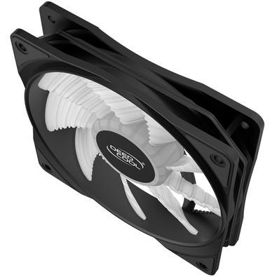 Cooler FAN Deepcool RF120W, 120mm, LED Branco - DP-FLED-RF120-WH