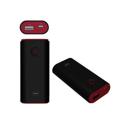 Carregador Portátil Dazz Pop, 5000 mAh, Cabo Micro USB, Preto e Vermelho - 6014534