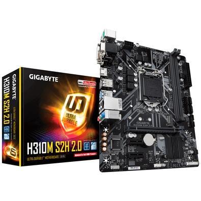 Placa-Mãe Gigabyte H310M S2H 2.0, Intel LGA 1151, mATX, DDR4