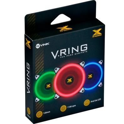 Cooler FAN Vinik VX Gaming V.Ring, 120mm, LED Vermelho - 29564