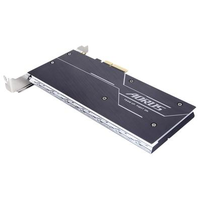 SSD Gigabyte Aorus RGB AIC 512 GB, PCIe NVMe, Leituras: 3480 MB/s e Gravações: 2100 MB/s - GP-ASACNE2512GTTDR