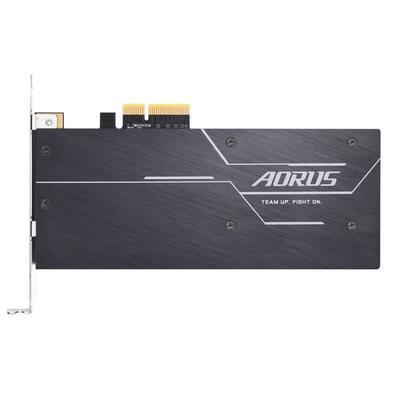 SSD Aorus RGB AIC 512 GB, PCIe NVMe, Leituras: 3480 MB/s e Gravações: 2100 MB/s - GP-ASACNE2512GTTDR