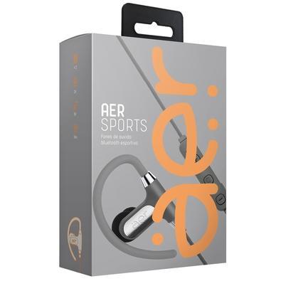 Fone de Ouvido Bluetooth Esportivo Geonav Aersports, Recarregável, Resistente à Água, Prata - AER02G