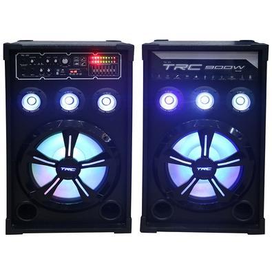 Caixa de Som Amplificada TRC 399, Bluetooth, USB, LED, 900W RMS - TRC 399