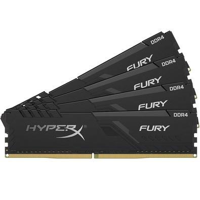 Memória Ram Fury 32gb Kit(4x8gb) Ddr4 2666mhz Hx426c16fb3k4/32 Hyperx