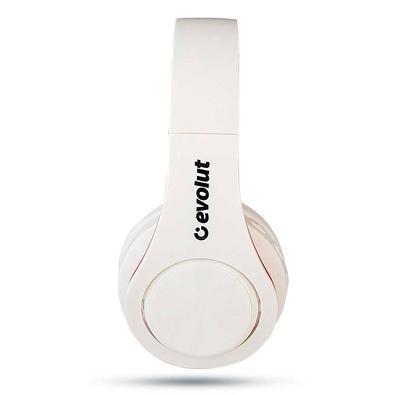Headphone Bluetooth Evolut, Vermelho e Branco -  EO-602