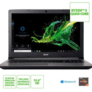 Notebook Acer Aspire 3 A315-41G-R21B AMD Ryzen 5-2500U, 8GB, HD 1TB, AMD Radeon 535 2GB, Windows 10 Home, 15.6´