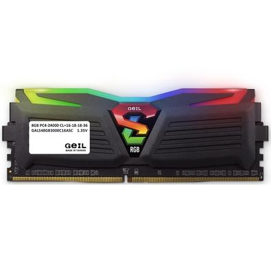 Memória Geil Super Luce, RGB, 8GB 3000Mhz, DDR4, CL16 - GALS48GB3000C16ASC