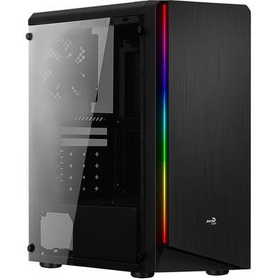 Gabinete Gamer Aerocool Rift Mid Tower, RGB, com FAN, Lateral em Acrílico - 67548