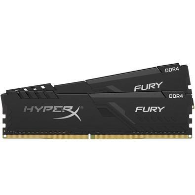 Memória HyperX Fury, 16GB (2x8GB), 3000MHz, DDR4, CL15, Preto - HX430C15FB3K2/16