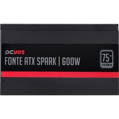 Fonte PCYes Spark 75+, 600W - PXSP600WPT