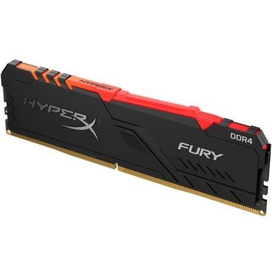 Memória HyperX Fury RGB, 8GB, 2400MHz, DDR4, CL15, Preto - HX424C15FB3A/8