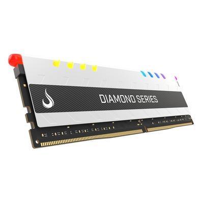 Memória Rise Mode Diamond RGB 8GB, 3000MHz, DDR4, CL17, Branco - RM-D4-8G-3000D-RGB