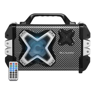 Caixa De Som Multilaser Multiuso, Bluetooth, USB, Aux, Cartão, FM, Mic - SP323