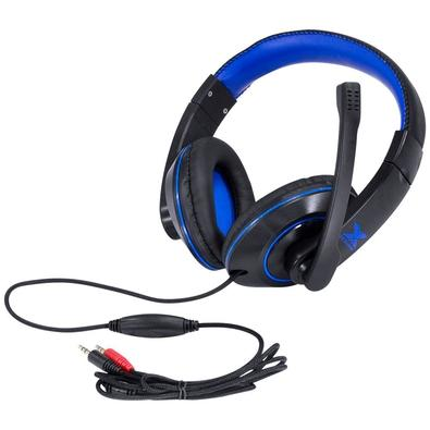 Headset Gamer Vinik VX Gaming V Blade II, Drivers 40mm, Preto e Azul - 29379