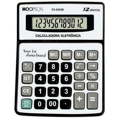 Calculadora Eletrônica Hoopson, 12 Dígitos - PS-8820B