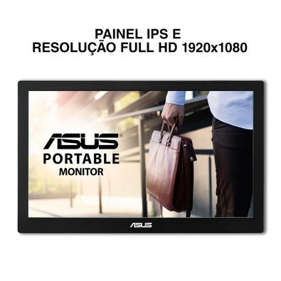 Monitor Portátil Asus 15.6´ Widescreen, Full HD, IPS, USB 3.0, Cinza Escuro - MB169B+