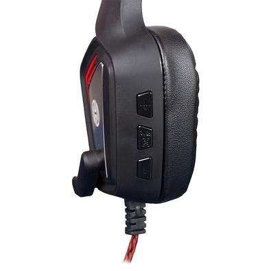 Headset Gamer Hoopson Mage, LED, Drivers 50mm, Preto/Vermelho - MK-31 R