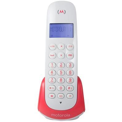 Telefone Sem Fio Motorola, Identificador de Chamadas, DECT 6.0 Digital, Bivolt, Vermelho e Branco - MOTO700-S