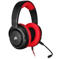 Headset Gamer Corsair HS35 Stereo, Drivers 50mm, Vermelho - CA-9011198-NA