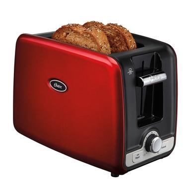 Torradeira Oster Square Retro Toaster, 7 Níveis de Tostagem, 220V, Vermelha - TSSTTRWA2R-057