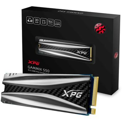 SSD XPG Gammix S50, 1TB, M.2, PCIe, Leituras: 5000Mb/s e Gravações 4400Mb/s - AGAMMIXS50-1TT-C