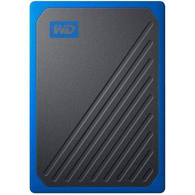 SSD WD Externo, Portátil, My Passport Go, 500GB, Preto e Azul - WDBMCG5000ABT-WESN