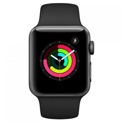 Apple Watch 3 GPS, 38mm, Caixa Cinza Espacial com Pulseira Esportiva Preta - MTF02BZ/A