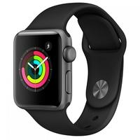 Apple Watch Series 3, GPS, 38mm, Cinza Espacial, Pulseira Preta - MTF02BZ/A
