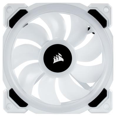 Kit Fan com 3 Unidades Corsair LL120  RGB, 120mm, Branco - CO-9050092-WW