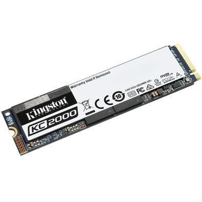 SSD Kingston KC2000, 1000GB, M.2 NVMe, Leitura 3200MB/s, Gravação 2200MB/s - SKC2000M8/1000G