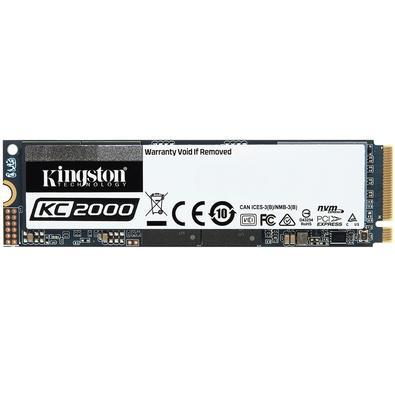 SSD Kingston KC2000, 1TB, M.2 NVMe, Leitura 3200MB/s, Gravação 2200MB/s - SKC2000M8/1000G