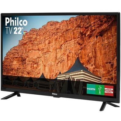 TV LED 22´ Full HD Philco, Conversor Digital, 2 HDMI, 1 USB - 99223006