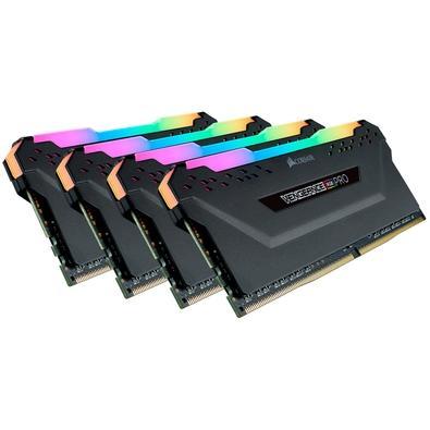 Memória Corsair Vengeance RGB Pro, 32GB (4x8GB), 3600MHz, DDR4, CL18 - CMW32GX4M4C3600C18