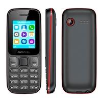 Celular Movacel A17, Câmera Traseira VGA, Lanterna, Bluetooth, Rádio FM, Dual Chip, Preto/Vermelho