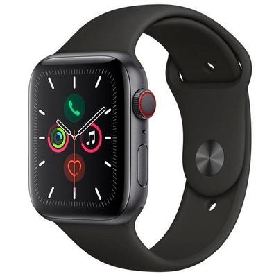 Apple Watch Series 5, GPS, 44mm, Cinza Espacial, Pulseira Preta - MWWE2BZ/A